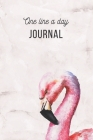 One Line A Day Journal: Marble Flamingo Design Journal Five-Year Memory Book, Diary, Notebook, 6x9, 110 Lined Blank Pages Cover Image