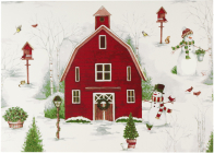 Country Winter Deluxe Boxed Holiday Cards Cover Image