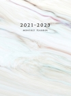 2021-2023 Monthly Planner: Large Three Year Planner with Marble Cover (Volume 1 Hardcover) Cover Image