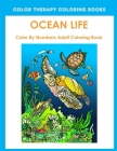 Ocean Life Color By Number Adult Coloring Book Cover Image
