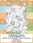 Libro de colorear para animales - Letra grande - Animales - Camaleón Cover Image