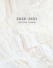 2020-2021 Two Year Planner: Large Monthly Planner with Inspirational Quotes and Marble Cover (Volume 3) Cover Image