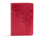 KJV Large Print Compact Reference Bible, Pink LeatherTouch: Red Letter, Ribbon Marker, Smythe Sewn,Two Column Text, Easy-To-Carry, Full-Color Maps Cover Image