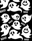 Boo!: College Ruled Paper with a BW ghost illustrations on each page- 8.5 x 11- 150 Pages, Perfect for School, Office and Ho Cover Image