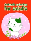 Animals coloring for adults: Christmas Book Coloring Pages with Funny, Easy, and Relax Cover Image