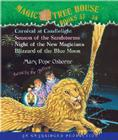 Magic Tree House: Books 33-36: #33 Carnival at Candlelight; #34 Season of the Sandstorms; #35 Night of the New Magicians; #36 Blizzard of the Blue Mo Cover Image