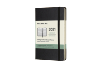 Moleskine 2021 Weekly Vertical Planner, 12M, Pocket, Black, Hard Cover (3.5 x 5.5) Cover Image