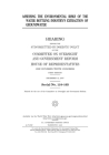 Assessing the environmental risks of the water bottling industry's extraction of groundwater: hearing before the Subcommittee on Domestic Policy of th Cover Image