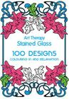 Art Therapy Stained Glass: 100 Designs: Colouring in and Relaxation Cover Image