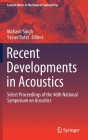 Recent Developments in Acoustics: Select Proceedings of the 46th National Symposium on Acoustics (Lecture Notes in Mechanical Engineering) Cover Image