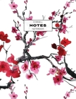 Cornell Notes Notebook: Note Taking with College Ruled Lines, Index and Numbered Pages, Cherry Blossom Cover Image