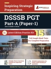 DSSSB PGT Part-A (Paper-1) Exam 2021 Preparation Kit for Delhi Subordinate Services Selection Board 15 Full-length Mock Tests By EduGorilla Cover Image