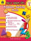 Daily Warm-Ups: Problem Solving Math Grade 1 Cover Image