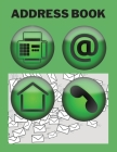 Address Book: Amazing Book to Record Addresses, Telephone Numbers, E-mails, Birthdays, and Notes Cover Image