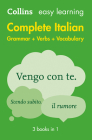 Complete Italian Grammar Verbs Vocabulary: 3 Books in 1 (Collins Easy Learning) Cover Image