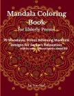 Mandala Coloring Book for Elderly Person Cover Image