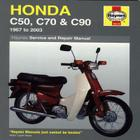 Honda C50, C70 & C90: 1967 to 2003 (Haynes Service & Repair Manual) Cover Image