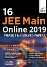 16 JEE Main Online 2019 Phase I & II Solved Papers with FREE 5 Online Tests Cover Image
