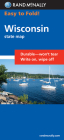 Rand McNally Easy to Fold: Wisconsin (Laminated Fold Map) (Easyfinder S) Cover Image