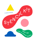 Stencil Kit: Blue Smile, Red Apple, Yellow Snake... Cover Image