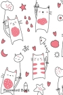Password Book: Include Alphabetical Index With Cute Baby Cat Seamless Pattern Cover Image