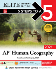 5 Steps to a 5: AP Human Geography 2021 Elite Student Edition Cover Image
