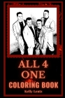 All 4 One Coloring Book: An R&B Pop Group and Motivational Stress Relief Adult Coloring Book Cover Image