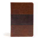 CSB Large Print Personal Size Reference Bible, Saddle Brown LeatherTouch Cover Image