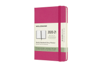 Moleskine 2020-21 Weekly Planner, 18M, Pocket, Bougainvillea Pink, Hard Cover (3.5 x 5.5) Cover Image