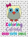 Coloring Calendar 2020 Cute Owls Cover Image
