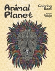 Animal Planet - Coloring Book - Stress Relieving Designs Cover Image