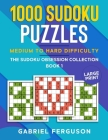 1000 Sudoku Puzzles Medium to Hard difficulty Cover Image