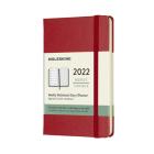 Moleskine 2022  Weekly Planner, 12M, Pocket, Scarlet Red, Hard Cover (3.5 x 5.5) Cover Image