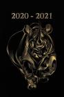 2020 - 2021: Nashorn Schwarz Gold Cover - Wochenkalender für 2 Jahre - Kalender - Zielsetzung - Zeitmanagement - Produktivität - Te Cover Image