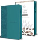 Biblia Reina Valera 1960 letra grande. Símil piel aguamarina, cremallera, tamaño manual/Spanish Bible RVR 1960. Handy Size, Large Print, Leathersoft Aqua, Cover Image