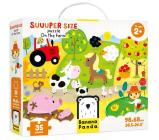 Suuuper Size on the Farm Floor Age 2+ Floor Puzzle Cover Image