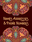Names, Addresses, & Phone Numbers: Address Book With Alphabet Index (Large Tabbed Address Book). Cover Image