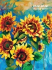 2020-2024 Five Year Planner: Five Year Monthly Planner 8.5 x 11 with Flower Coloring Pages (Sunflowers Hardcover) Cover Image