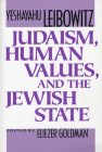 Judaism, Human Values, and the Jewish State Cover Image