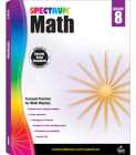 Spectrum Math Workbook, Grade 8 Cover Image