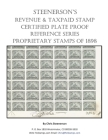 Steenerson's Revenue Taxpaid Stamp Certified Plate Proof Reference Series - Battleship Proprietary Stamps of 1898 Cover Image