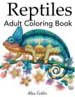 Reptiles Adult Coloring Book Cover Image