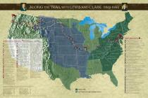Along the Trail with Lewis and Clark Poster, Revised Edition Cover Image