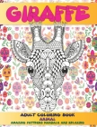 Adult Coloring Book Animal - Amazing Patterns Mandala and Relaxing - Giraffe Cover Image