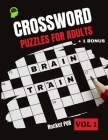 Crossword Puzzles For Adults Cover Image