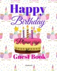Birthday Guest Book For Kids: Children Birthday Book with Unicorn Design on Cover 8X10 inch Cover Image