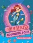 Mermaid Coloring Book For Kids Ages 4-8: 50 Cute, Unique Coloring Pages Cover Image