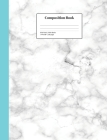 Composition Book Wide-Ruled White Marble: School Classroom Notebook Cover Image
