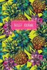 Bullet Journal: Tropical Print 6x9 Dot Grid Notebook Bright, Floral Style Cover Image