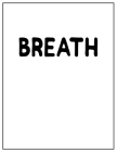 Breath: Black and white Decorative Book - Perfect for Coffee Tables, End Tables, Bookshelves, Interior Design & Home Staging A Cover Image